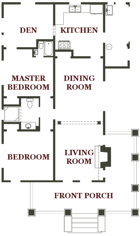 Erehwon Bungalow Floor Plan