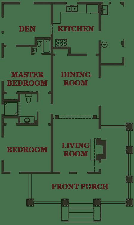 Bungalow Floorplan Florida Vacation Homes