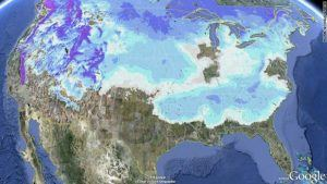January 2011 Snow Map